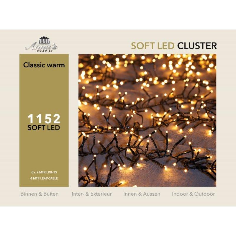 Clusterverlichting 1152-lamps soft-LED 'classic warm'