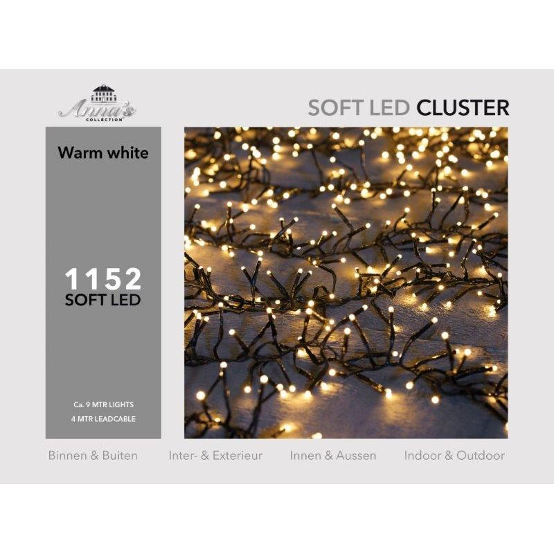 Clusterverlichting 1152-lamps soft-LED 'warm wit'