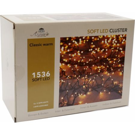 Clusterverlichting 1536-lamps soft-LED 'classic warm' - afbeelding 1