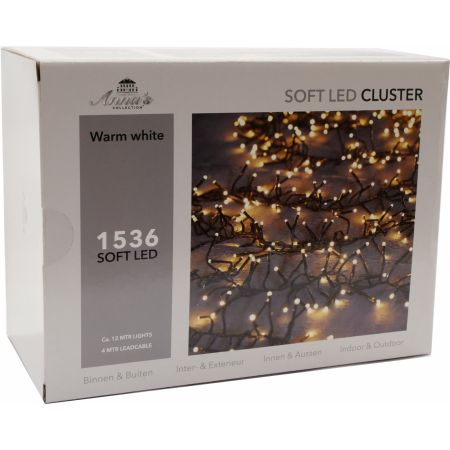 Clusterverlichting 1536-lamps soft-LED  'warm wit' - afbeelding 1