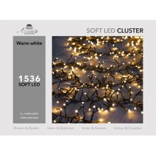 Clusterverlichting 1536-lamps soft-LED  'warm wit' - afbeelding 4