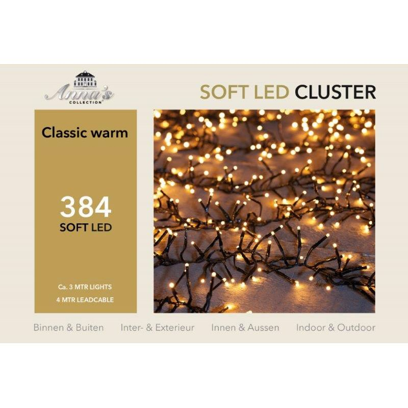 Clusterverlichting 384-lamps soft-LED 'classic warm'