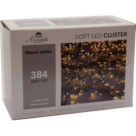Clusterverlichting 384-lamps soft-LED 'warm wit' - afbeelding 1