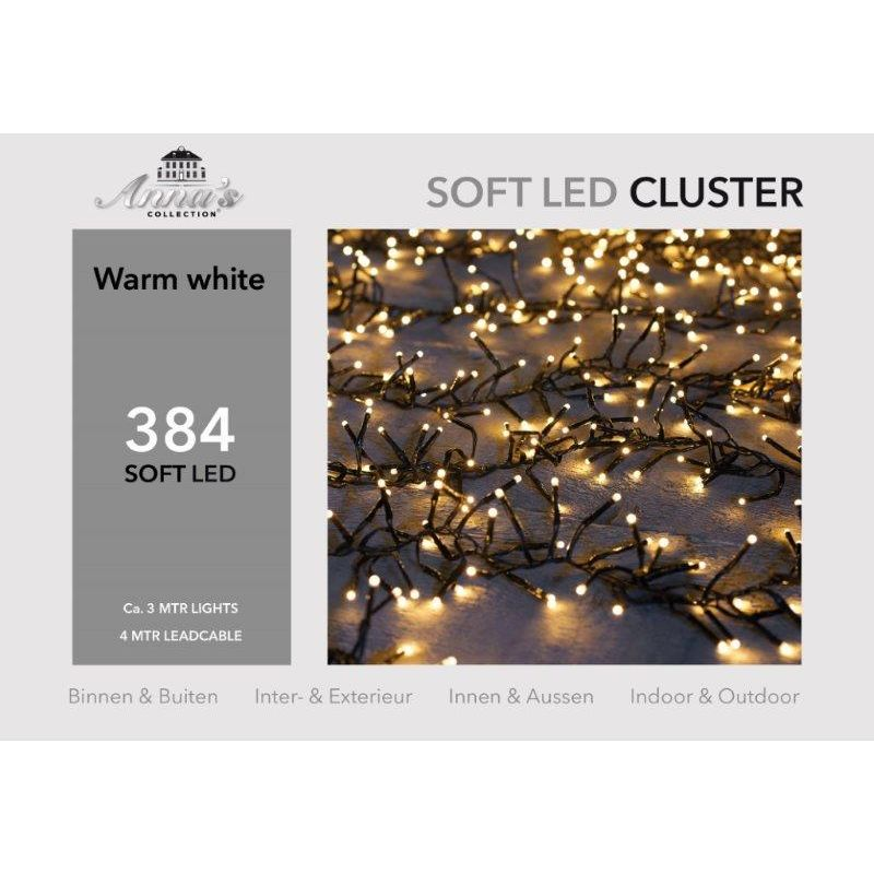 Clusterverlichting 384-lamps soft-LED 'warm wit'