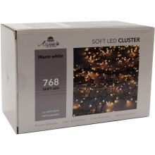 Clusterverlichting 768-lamps soft-LED 'warm wit' - afbeelding 1