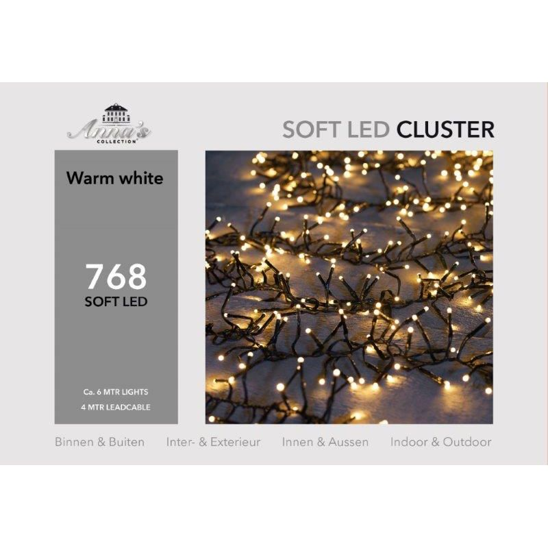 Clusterverlichting 768-lamps soft-LED 'warm wit'