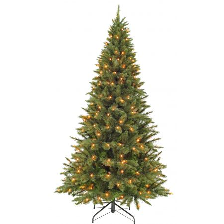 Kunstkerstboom Triumph Tree Forest frosted pine slim 185cm, met 168 lampjes
