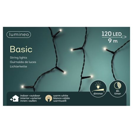 LED basicverlichting 120-lamps, 'warm wit' - afbeelding 1