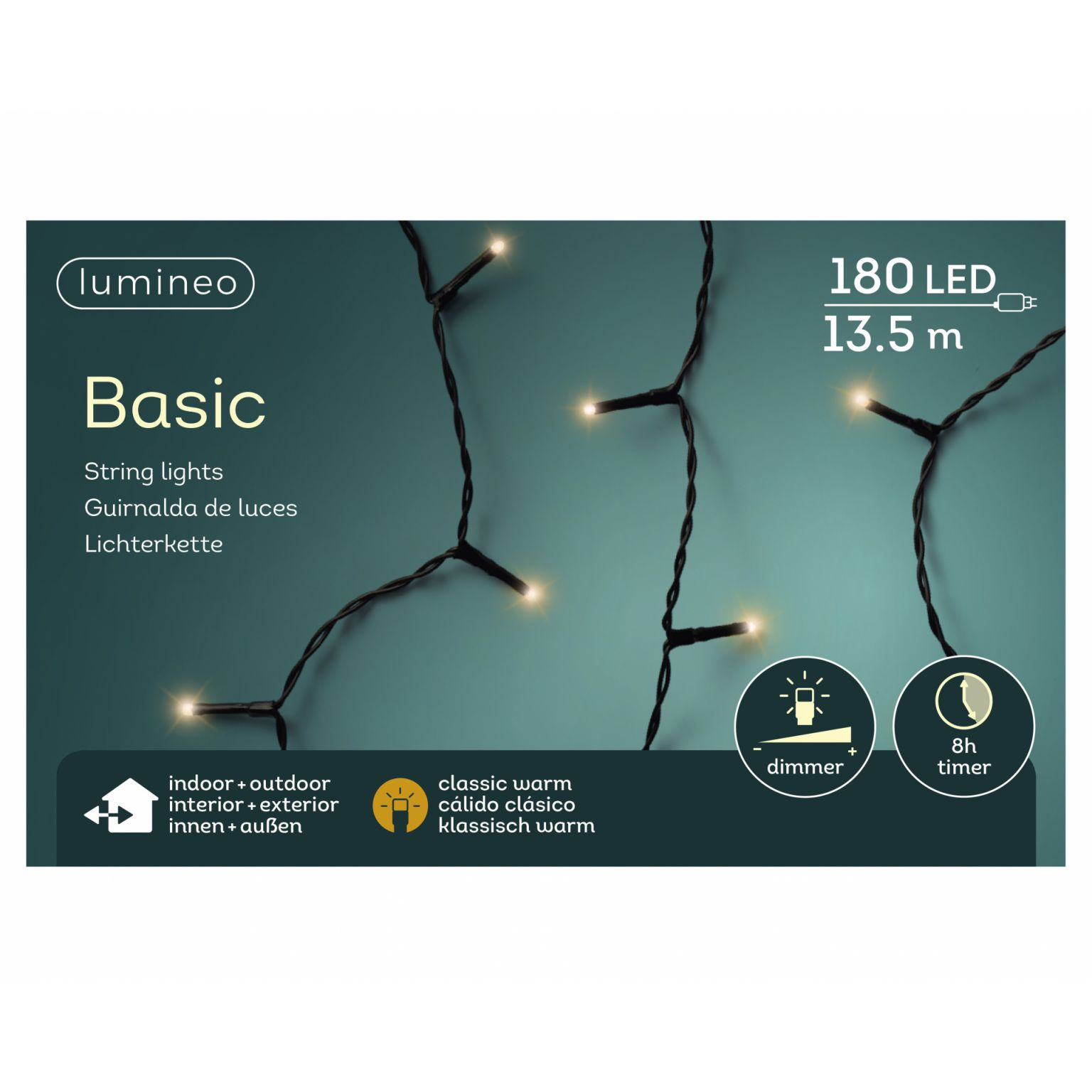 LED basicverlichting 180-lamps, 'klassiek warm'