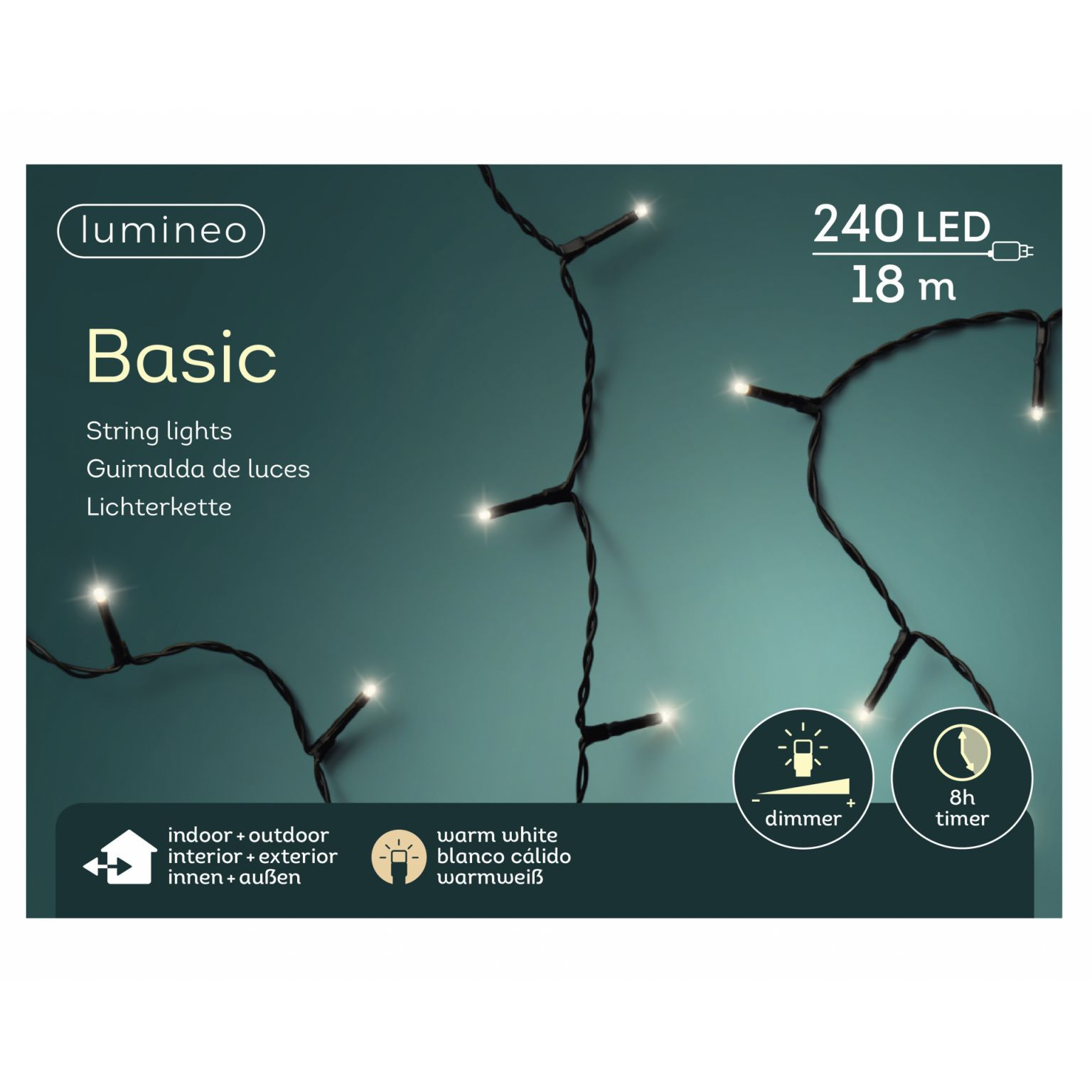LED basicverlichting 240-lamps, 'warm wit'
