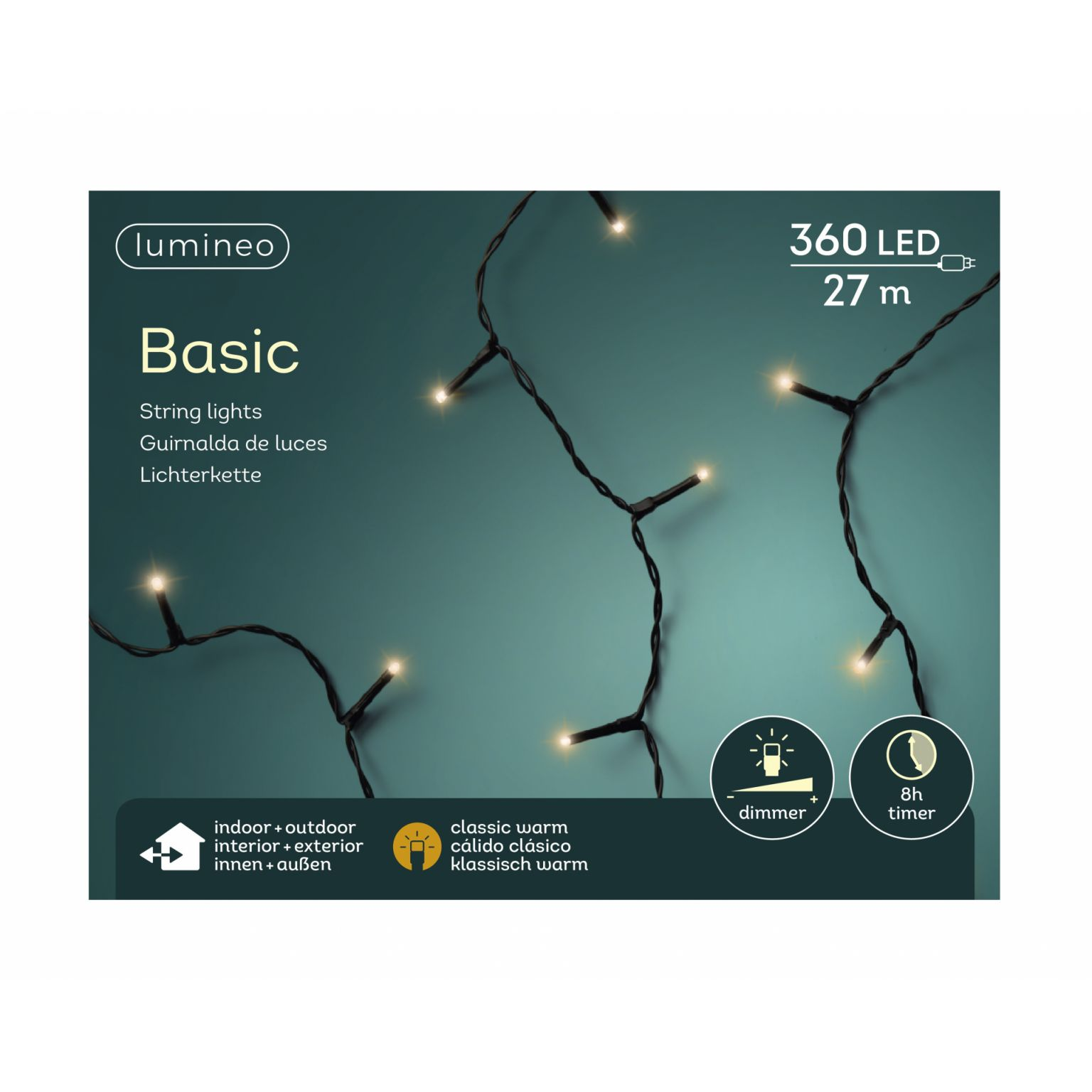 LED basicverlichting 360-lamps, 'klassiek warm'