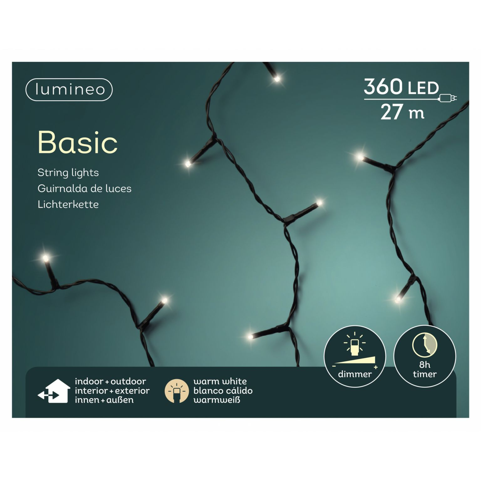 LED basicverlichting 360-lamps, 'warm wit'