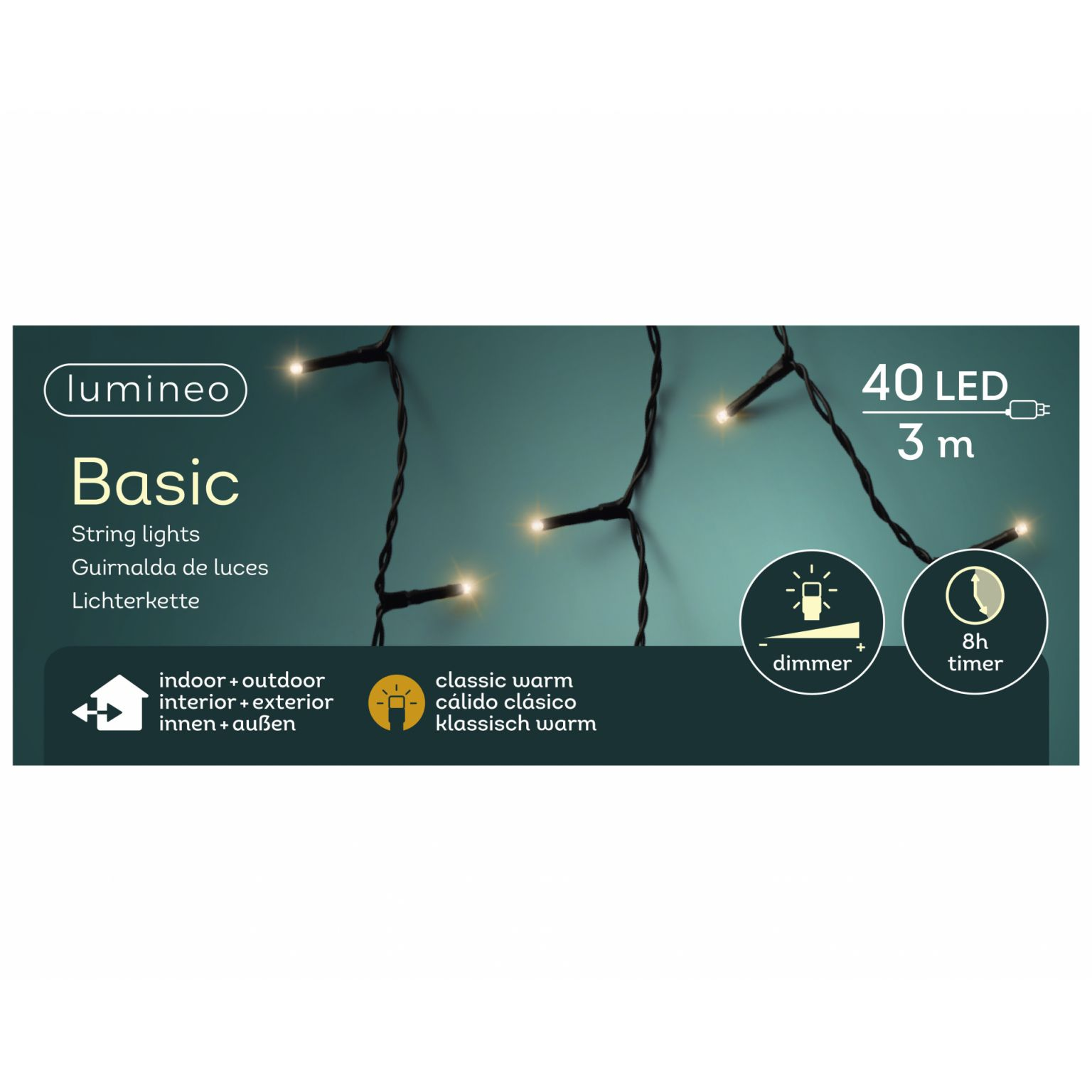 LED basicverlichting 40-lamps, 'klassiek warm'