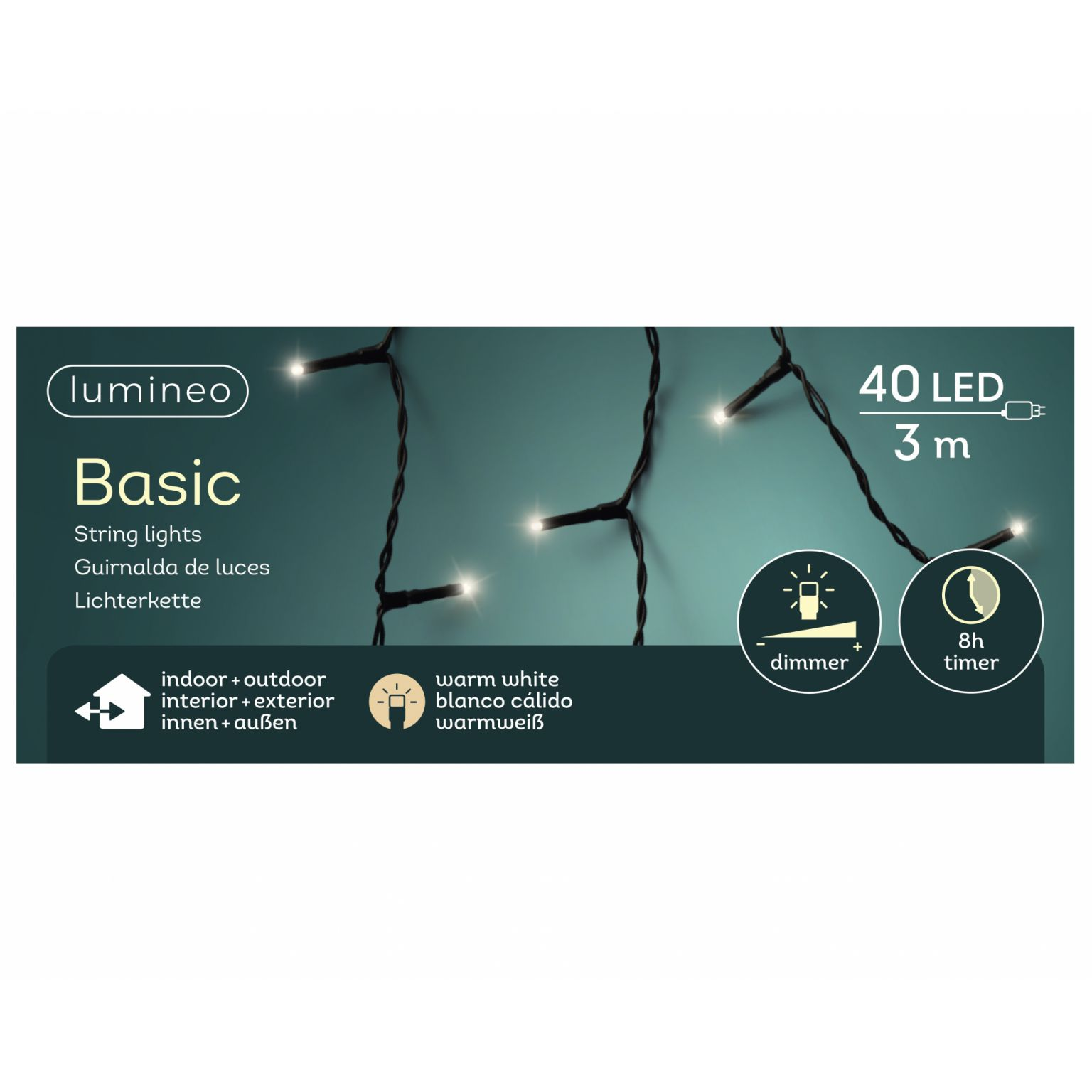 LED basicverlichting 40-lamps, 'warm wit'