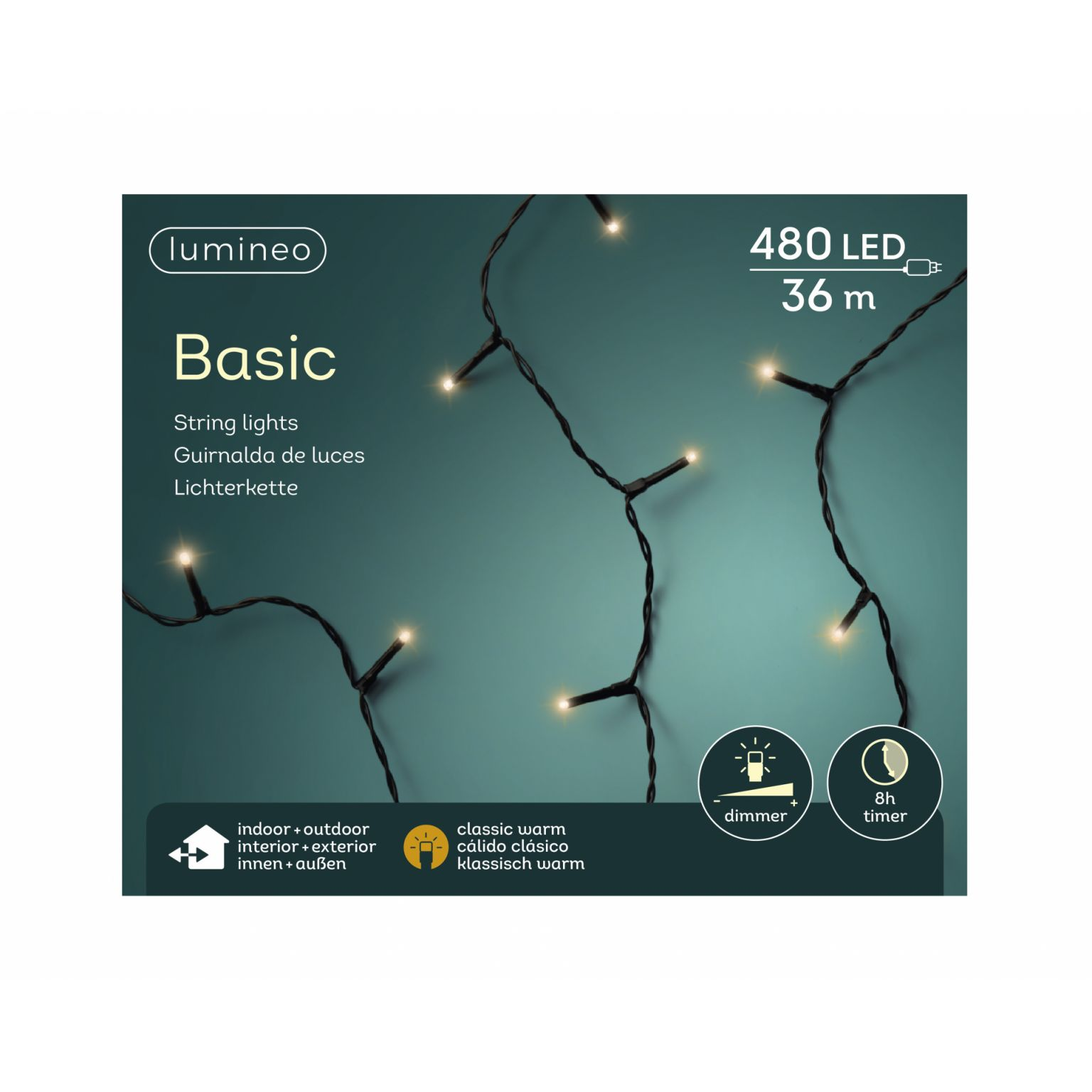 LED basicverlichting 480-lamps, 'klassiek warm'
