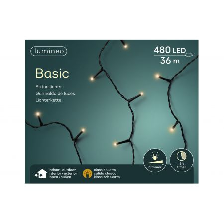 LED basicverlichting 480-lamps, 'klassiek warm' - afbeelding 1