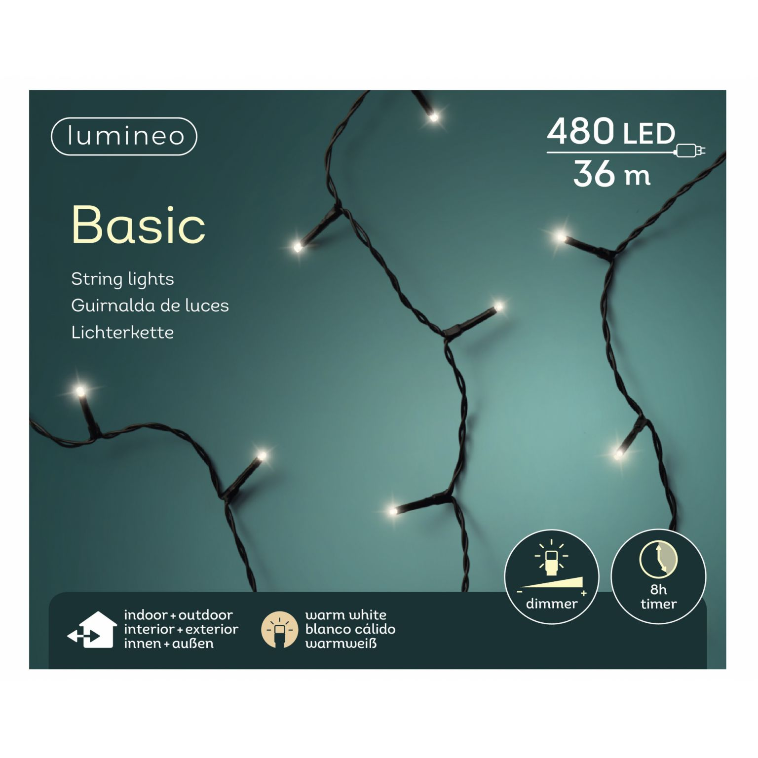 LED basicverlichting 480-lamps, 'warm wit'
