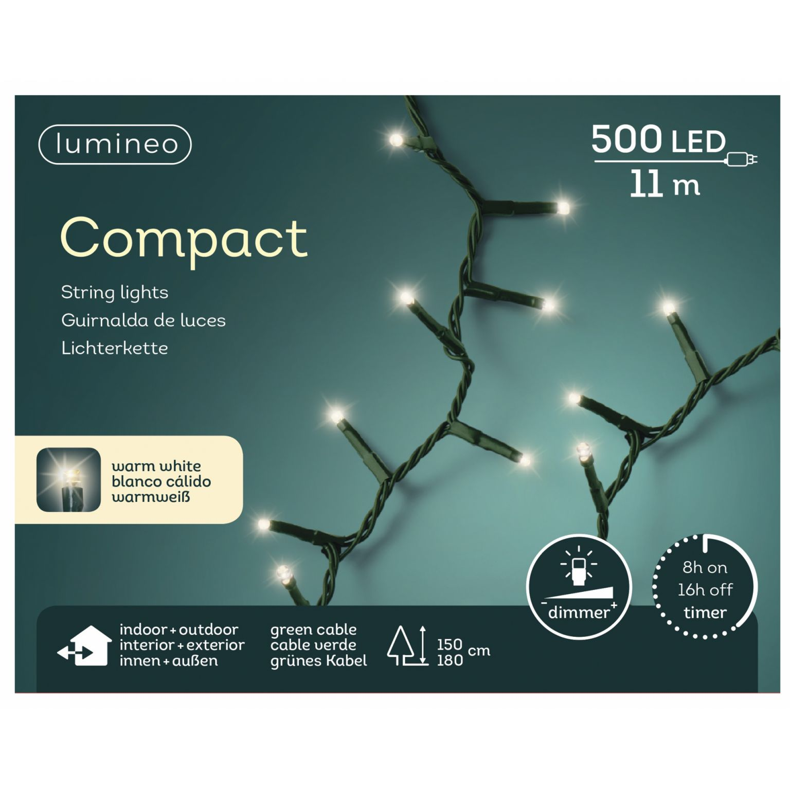 LED compactverlichting 500-lamps 'warm wit