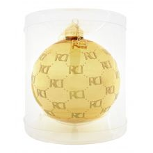 Roy Donders kerstbal RD-logo all over gold - afbeelding 2