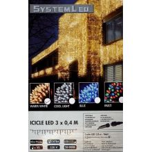 System-Led 230 V. koppelbare ijspegelverlichting 50 lamps warm wit, 300x40cm - afbeelding 1